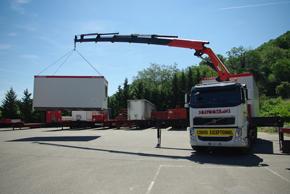 Solygotrans votre partenaire transport - Camion porte container avec grue occasion ...